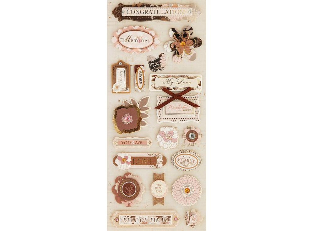 3D-cтикеры «Мои поздравления»Бумага и материалы для скрапбукинга<br><br><br>Артикул: 2613-SB<br>Размер: 10,5x24 см