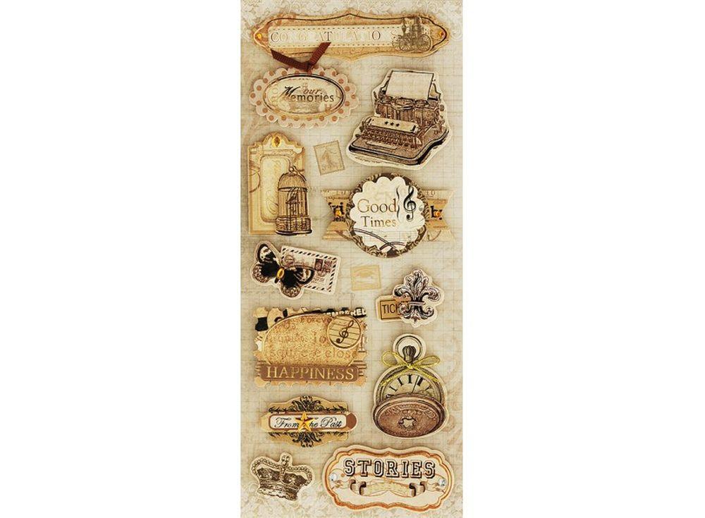 3D-cтикеры «Загадочные истории»Бумага и материалы для скрапбукинга<br><br><br>Артикул: 2614-SB<br>Размер: 10,5x24 см