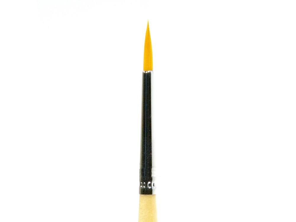 Кисть синтетическая круглая №2 с короткой ручкойАксессуары для рисования картин по номерам<br><br><br>Артикул: 311202<br>Размер: №2<br>Материал: Синтетика