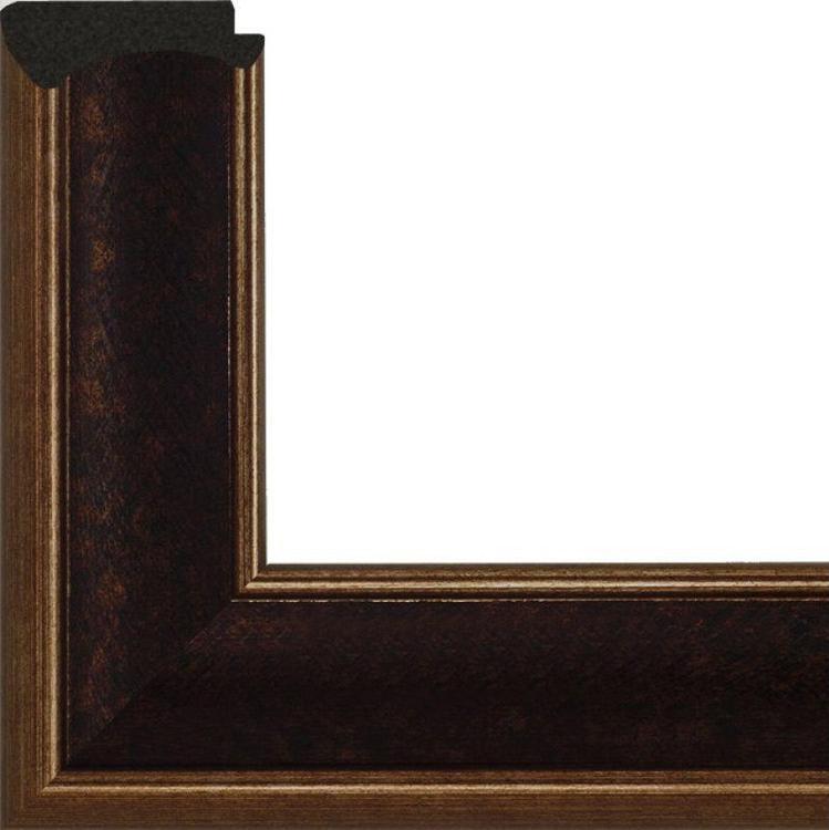 Рамка без стекла для картин «King»Багетные рамки<br>Для картин на подрамнике на холсте, на картоне, алмазной мозаики. Стекло в комплект не входит. При необходимости приобретайте стекло отдельно.<br><br>Артикул: g3848/45<br>Размер: 38x48 см<br>Цвет: Коричневый с золотом<br>Ширина: 50 мм<br>Материал багета: Пластик<br>Глубина багета: 9 мм