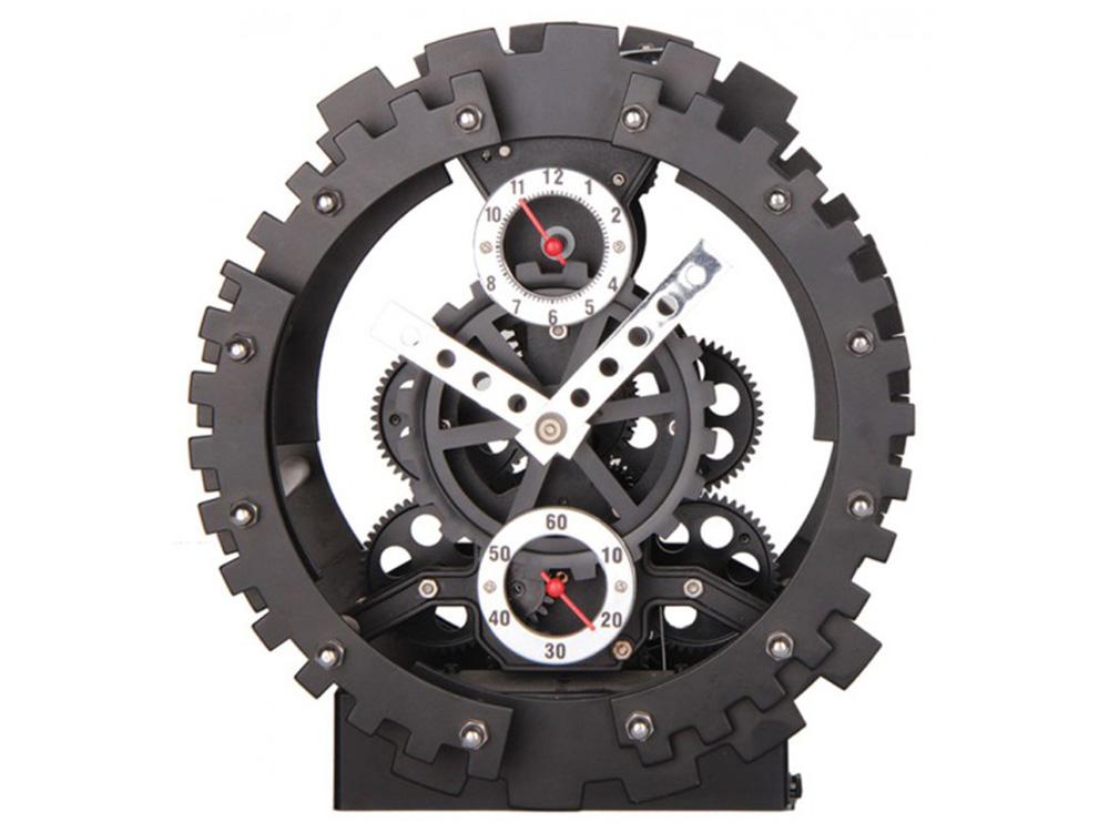 Часы настенные «Машина времени»Дизайнерские настенные часы<br>Наш ассортимент пополнился новыми моделями часов-скелетонов. Открытый корпус этих часов позволяет заглянуть внутрь устройства и узнать, как работают многочисленные шестерни, колесики и стрелки. В настенных моделях сверху расположено защитное стекло, но пр...<br><br>Артикул: 502-CL<br>Размер: 20 см (диаметр)