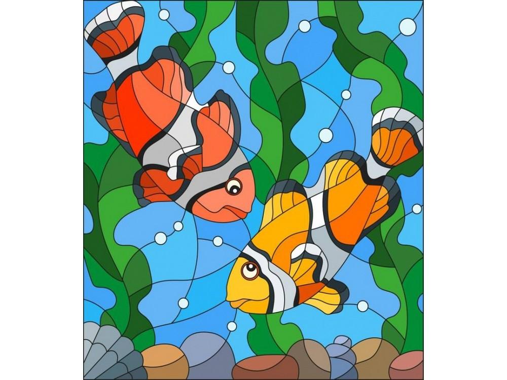 Набор для вышивания «Рыбки клоуны»Вышивка гладью Матренин Посад<br><br><br>Артикул: 5521/ГЛ<br>Основа: ткань<br>Размер: 22x25 см<br>Техника вышивки: гладь<br>Тип схемы вышивки: Цветная схема<br>Размер вышитой работы: 15x17 см<br>Количество цветов: 20<br>Заполнение: Частичное<br>Рисунок на канве: нанесён рисунок<br>Техника: Вышивка гладью<br>Нитки: нитки мулине ПНК им. Кирова