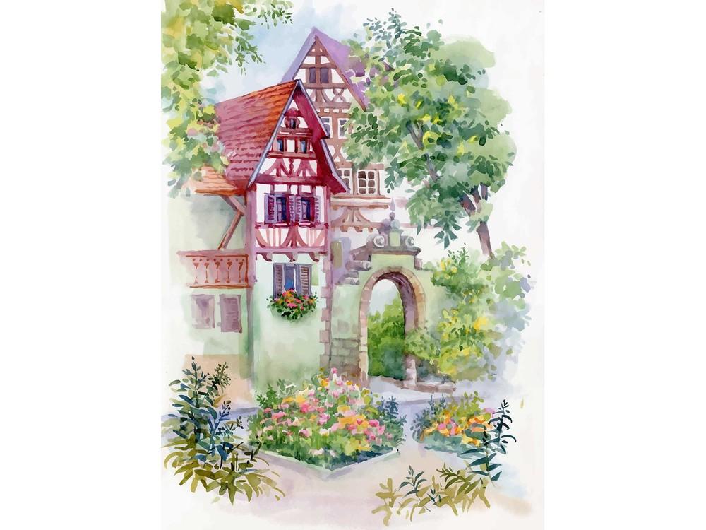 Набор для вышивания «Райский сад»Вышивка смешанной техникой Матренин Посад<br><br><br>Артикул: 7039/Л<br>Основа: ткань<br>Размер: 37x49 см<br>Техника вышивки: ленты+бисер+нитки<br>Тип схемы вышивки: Цветная схема<br>Размер вышитой работы: 18x29 см<br>Количество цветов: Ленты: 4, бисер: 7, мулине: 3<br>Заполнение: Частичное<br>Рисунок на канве: нанесён рисунок и схема<br>Техника: Смешанная техника