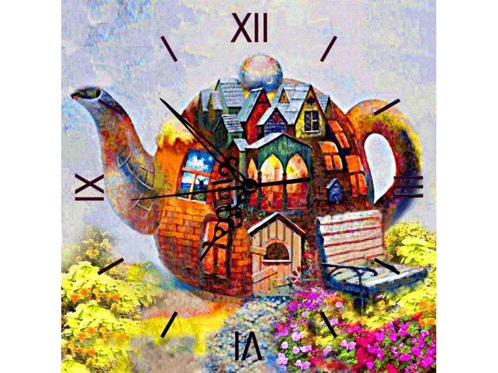 Алмазные часы «Чайный дом»Color Kit (Алмазные часы)<br><br><br>Артикул: 7303010P<br>Основа: Холст на подрамнике<br>Сложность: средние<br>Размер: 30x30 см<br>Выкладка: Полная<br>Количество цветов: 29