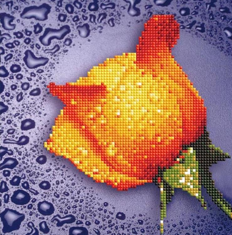 Купить Алмазная вышивка «Желтая роза», Color KIT