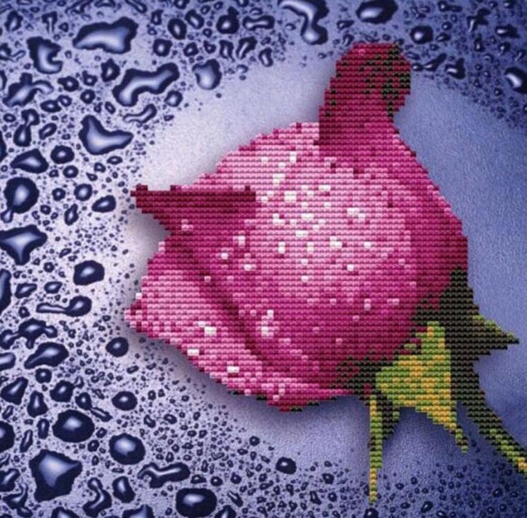 Купить Алмазная вышивка «Розовая роза», Color KIT