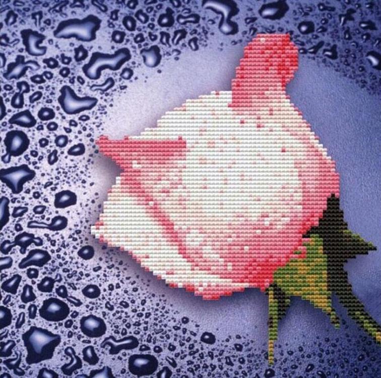 Купить Алмазная вышивка «Белая роза», Color KIT