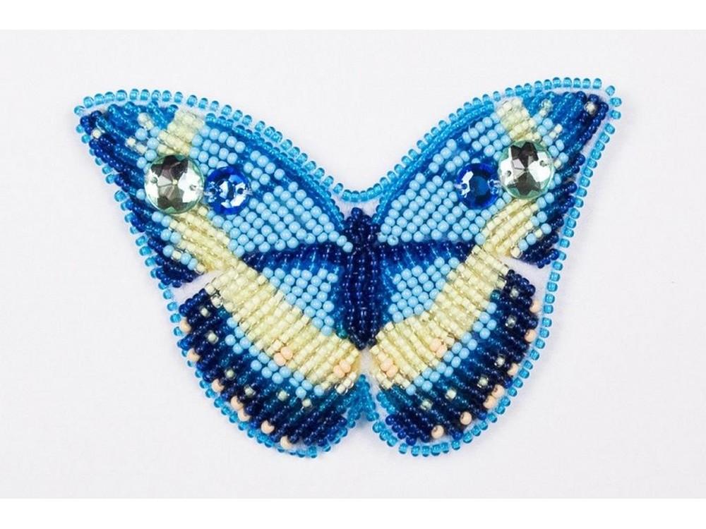 Набор вышивки бисером «Брошь Эффект бабочки»Вышивка бисером Матренин Посад<br><br>