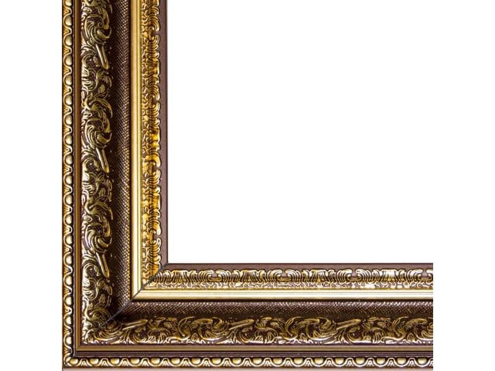 Рамка без стекла для картинБагетные рамки<br>Лист ДВП предназначен для защиты рамки от случайного удара, поэтому он выходит за пределы багета. Также углы рамки дополнительно упакованы в картонные уголки. Весь комплект упакован в термоусадочную пленку.<br><br>Артикул: BG018<br>Размер: 40x50 см<br>Цвет: Бронза<br>Ширина: 57 мм<br>Материал багета: Пластик<br>Толщина: 24 мм<br>Глубина багета: 12 мм