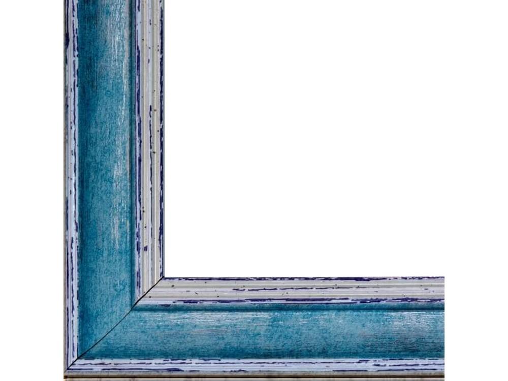 Рамка без стекла для картинБагетные рамки<br>Лист ДВП предназначен для защиты рамки от случайного удара, поэтому он выходит за пределы багета. Также углы рамки дополнительно упакованы в картонные уголки. Весь комплект упакован в термоусадочную пленку.<br><br>Артикул: BG025<br>Размер: 40x50 см<br>Цвет: Голубой<br>Ширина: 41 мм<br>Материал багета: Пластик<br>Толщина: 22 мм<br>Глубина багета: 12 мм