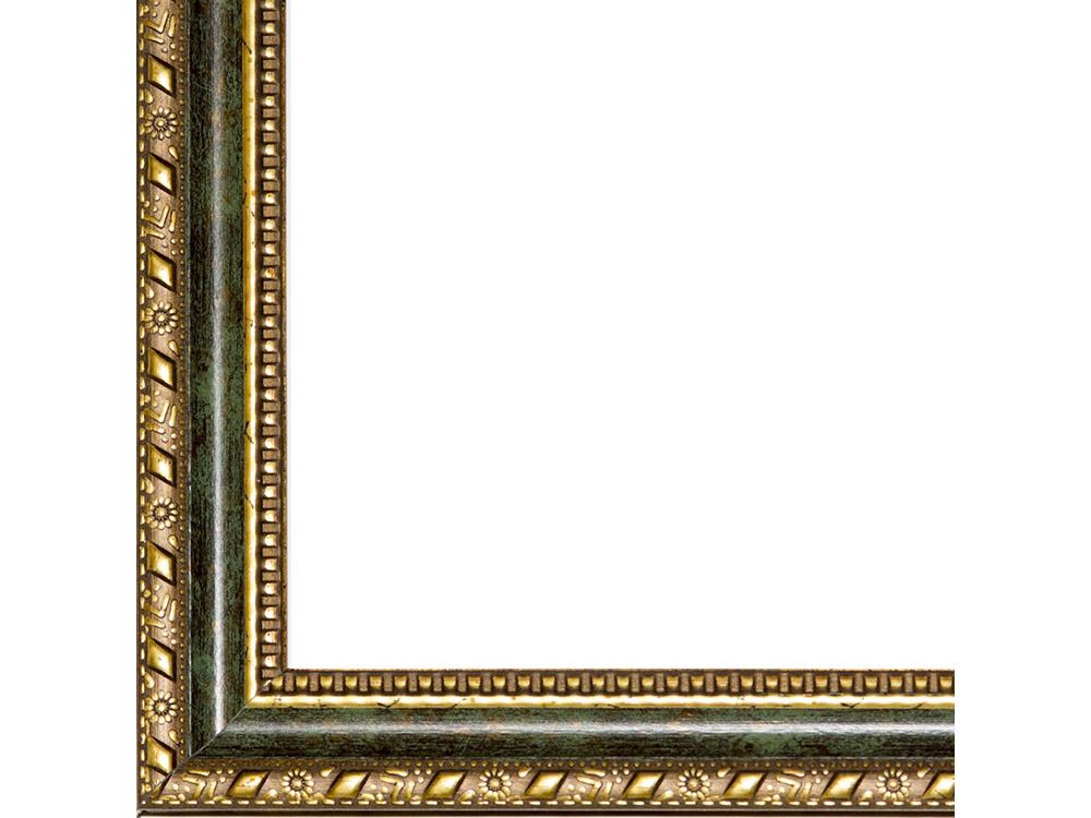 Рамка без стекла для картинБагетные рамки<br>Лист ДВП предназначен для защиты рамки от случайного удара, поэтому он выходит за пределы багета. Также углы рамки дополнительно упакованы в картонные уголки. Весь комплект упакован в термоусадочную пленку.<br><br>Артикул: BE008<br>Размер: 30x40 см<br>Цвет: Зеленый состаренный<br>Ширина: 37 мм<br>Материал багета: Пластик<br>Глубина багета: 12 мм