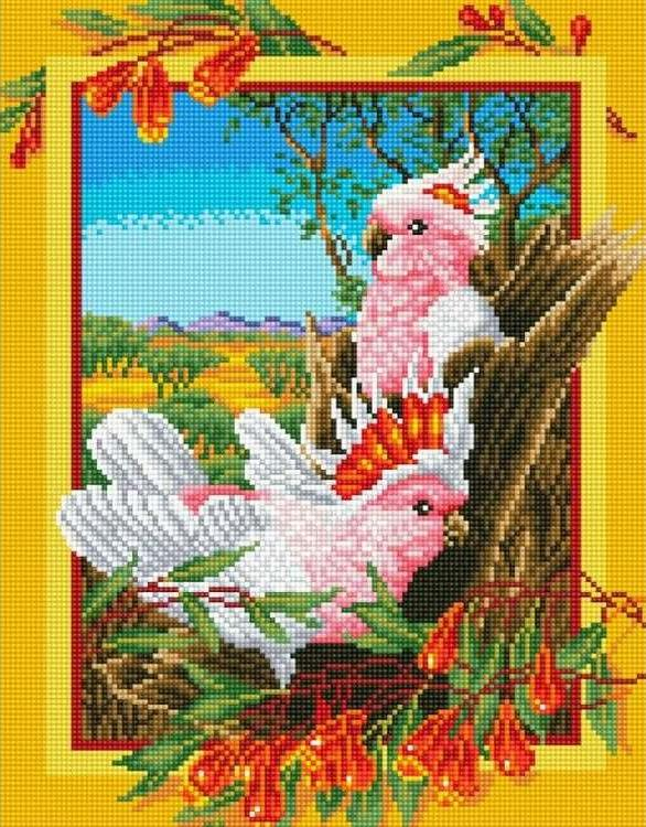 Алмазная вышивка «Розовые попугайчики»Цветной<br>Обновленная серия алмазной мозаики от бренда Цветной - это яркие популярные сюжеты и расширенная комплектация качественными составляющими. <br><br><br>Особенности алмазной вышивки от Цветной:<br><br>тканевый холст имеет ярко выраженную приятную на ощупь бархатисту...<br><br>Артикул: C204<br>Основа: Холст на подрамнике<br>Сложность: сложные<br>Размер: 30x40 см<br>Выкладка: Полная<br>Количество цветов: 20-35<br>Тип страз: Круглые непрозрачные (акриловые)