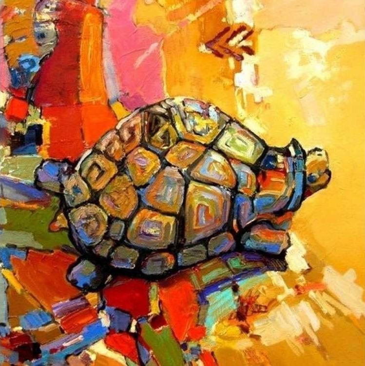 Картина по номерам «Черепаха удачи»Раскраски по номерам Color Kit<br><br><br>Артикул: CD011<br>Основа: Холст<br>Сложность: средние<br>Размер: 30x30 см<br>Количество цветов: 24<br>Техника рисования: Без смешивания красок