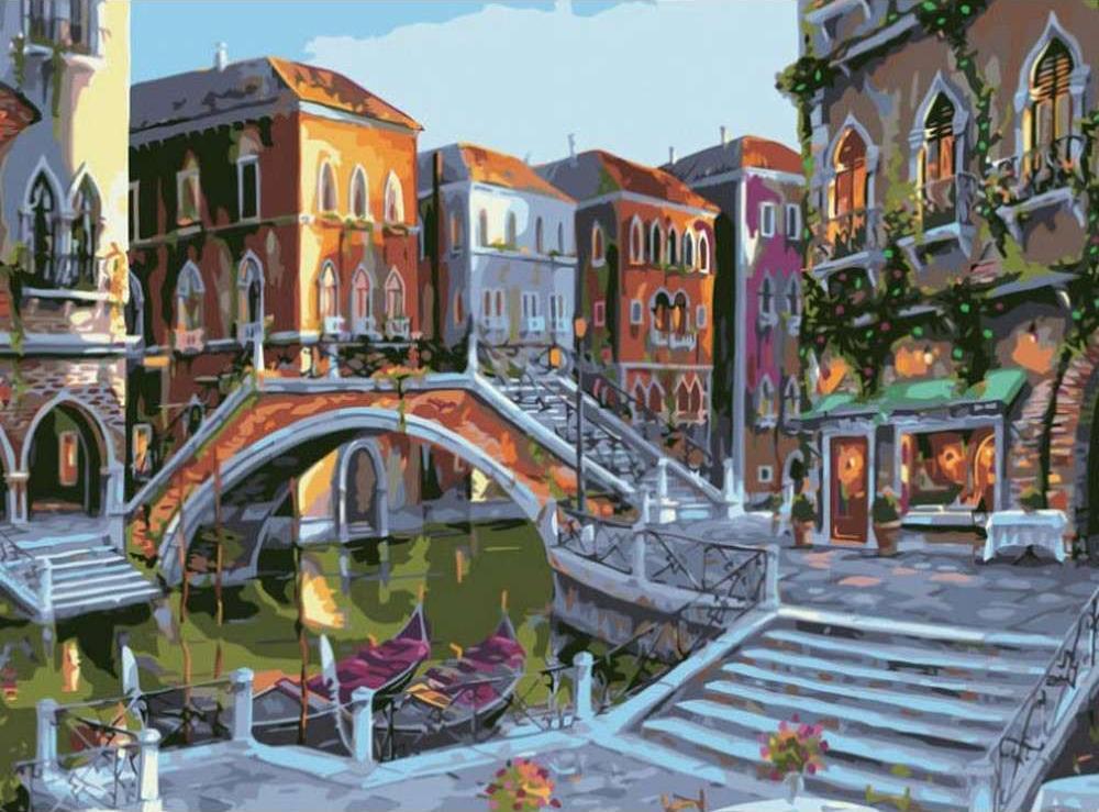 Картина по номерам «Рассветная Венеция» Роберта ПежманаРаскраски по номерам Color Kit<br><br><br>Артикул: CG516<br>Основа: Холст<br>Сложность: средние<br>Размер: 40x50 см<br>Количество цветов: 30<br>Техника рисования: Без смешивания красок