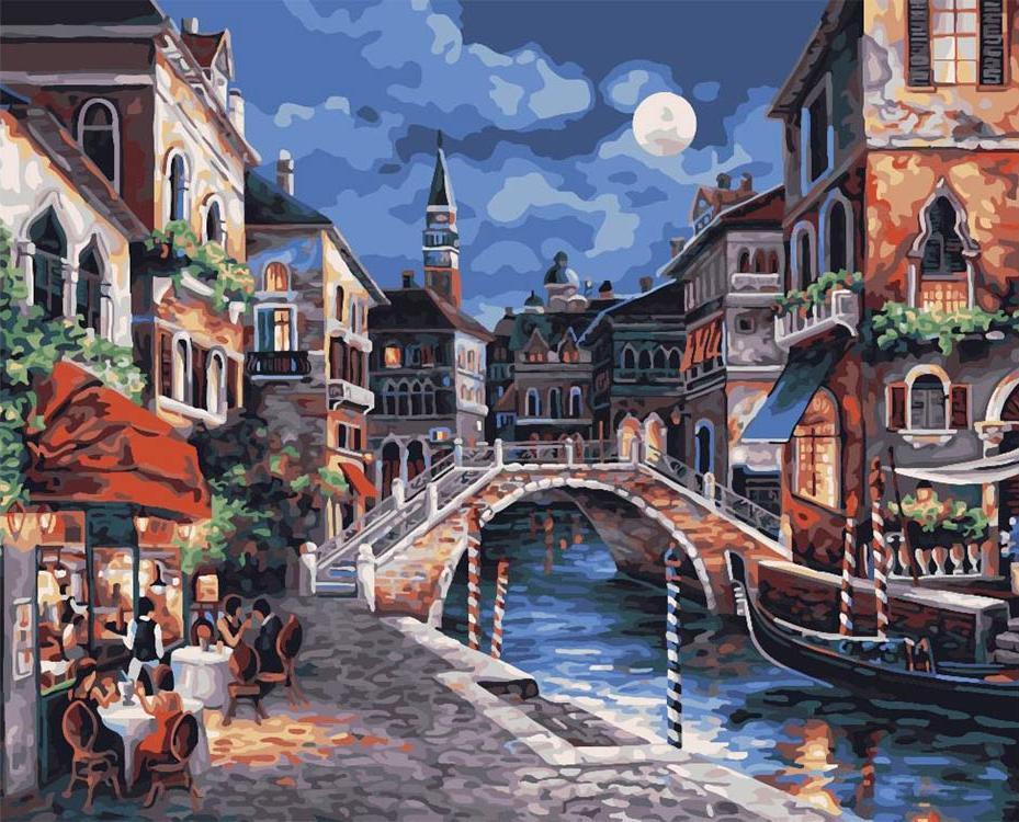 Алмазная вышивка «Венеция» Джеймса ЛиАлмазная вышивка Color Kit (Колор Кит)<br><br><br>Артикул: CKC176<br>Основа: Холст на подрамнике<br>Сложность: сложные<br>Размер: 40x50 см<br>Выкладка: Полная<br>Количество цветов: 21