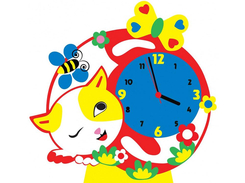 Набор для творчества «Котик-часы»