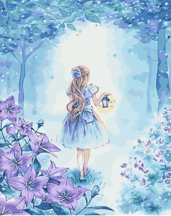 Картина по номерам «В сказочном лесу»Раскраски по номерам Paintboy (Original)<br><br><br>Артикул: GX3948_R<br>Основа: Холст<br>Размер: 40x50 см<br>Количество цветов: 22<br>Техника рисования: Без смешивания красок