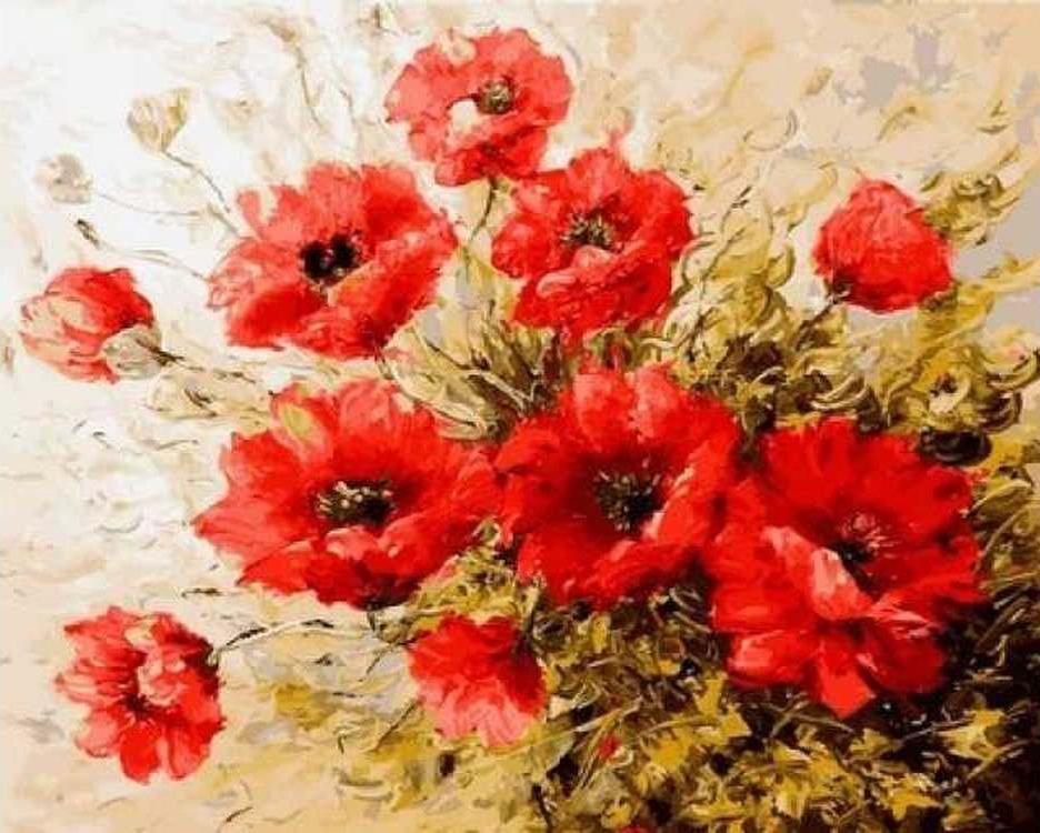 Картина по номерам «Воздушные маки» Антонио ДжанильяттиРаскраски по номерам Paintboy (Original)<br><br><br>Артикул: GX4240_R<br>Основа: Холст<br>Размер: 40x50 см<br>Количество цветов: 22<br>Техника рисования: Без смешивания красок