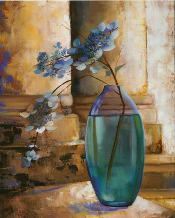 Картина по номерам «Цветы в голубой вазе»Раскраски по номерам Paintboy (Original)<br><br><br>Артикул: GX4609_R<br>Основа: Холст<br>Размер: 40x50 см<br>Количество цветов: 24-30<br>Техника рисования: Без смешивания красок