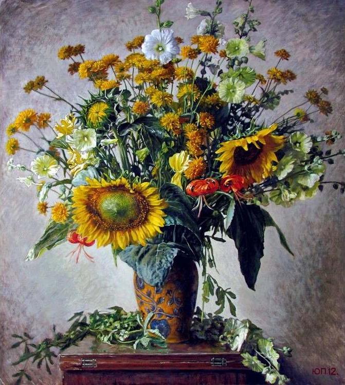 Купить Картина по номерам «Пышный букет с подсолнухами» Юрия Панцырева, Paintboy (Original)