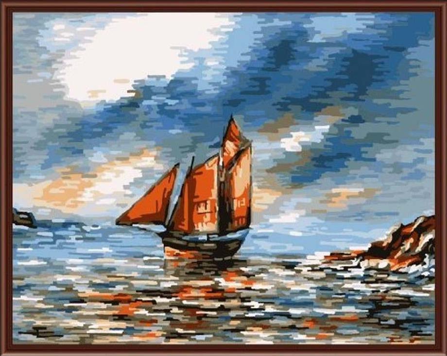 Картина по номерам «Перед бурей»Paintboy (Premium)<br><br><br>Артикул: GX6154<br>Основа: Холст<br>Сложность: средние<br>Размер: 40x50 см<br>Количество цветов: 24-30<br>Техника рисования: Без смешивания красок
