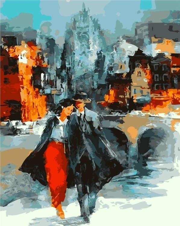 Купить Картина по номерам «Двое в Нью-Йорке» Виллема Хайенраетса, Paintboy (Original)