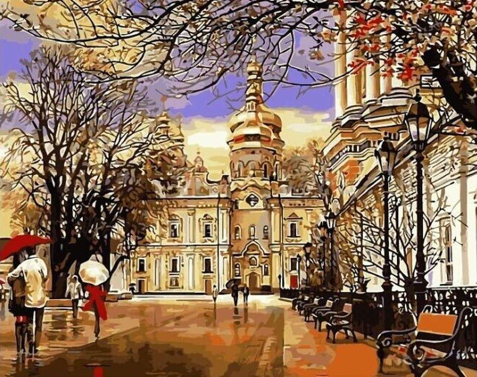 Картина по номерам «Дорога к храму» Сергея БрандтаРаскраски по номерам<br><br>