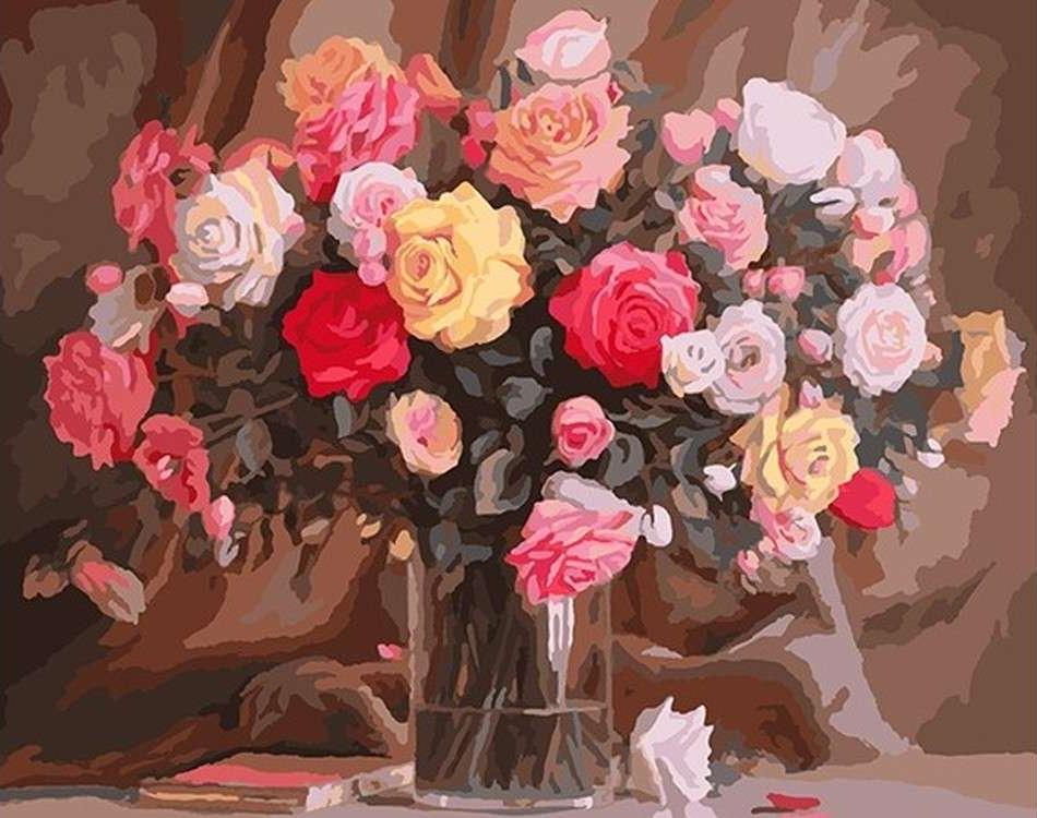 Картина по номерам «Розочки»Paintboy (Premium)<br><br><br>Артикул: GX8409<br>Основа: Холст<br>Размер: 40x50 см<br>Количество цветов: 24-30<br>Техника рисования: Без смешивания красок
