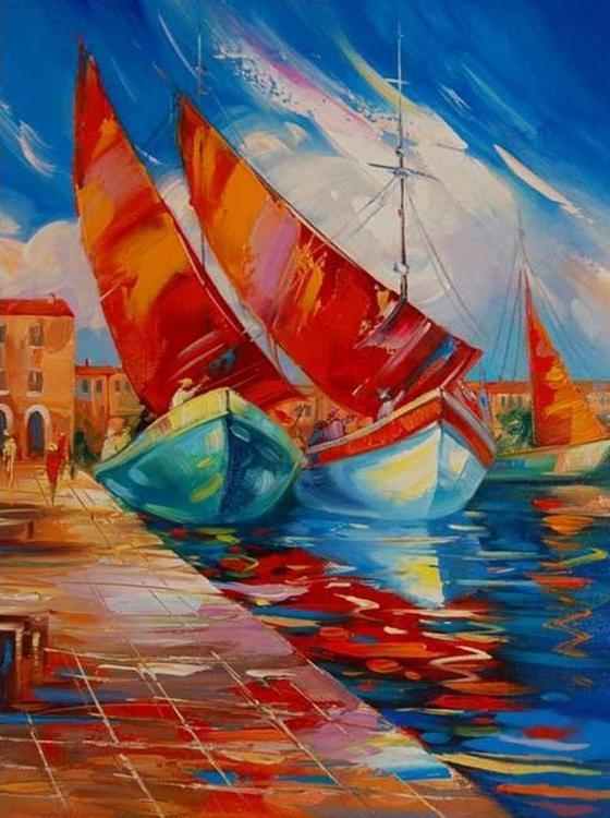 Картина по номерам «Яхты» Зиновия СыдориваРаскраски по номерам Color Kit<br><br><br>Артикул: KS003<br>Основа: Картон<br>Сложность: сложные<br>Размер: 30x40 см<br>Количество цветов: 16<br>Техника рисования: Без смешивания красок