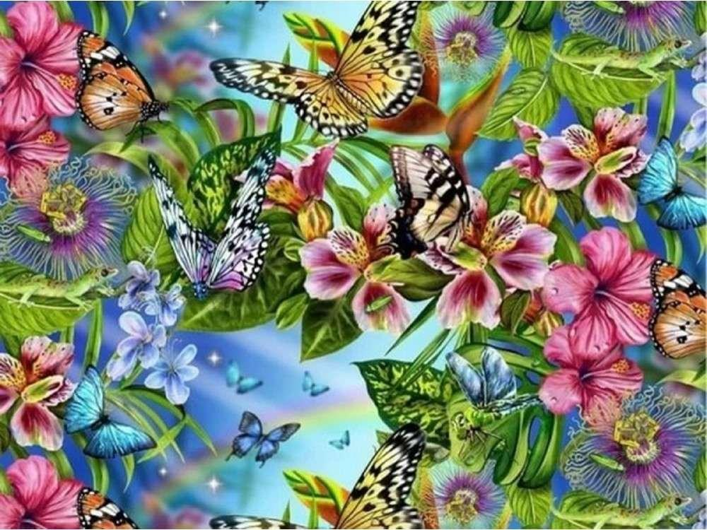 Картина по номерам «Бабочки»Раскраски по номерам Color Kit<br><br><br>Артикул: KS019<br>Основа: Картон<br>Сложность: сложные<br>Размер: 30x40 см<br>Количество цветов: 16<br>Техника рисования: Без смешивания красок