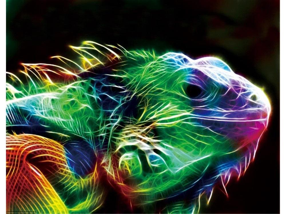 Алмазная вышивка «Неоновый хамелеон»Цветной<br>Обновленная серия алмазной мозаики от бренда Цветной - это яркие популярные сюжеты и расширенная комплектация качественными составляющими. <br><br><br>Особенности алмазной вышивки от Цветной:<br><br>тканевый холст имеет ярко выраженную приятную на ощупь бархатисту...<br><br>Артикул: P07<br>Основа: Холст на подрамнике<br>Сложность: сложные<br>Размер: 40x50 см<br>Выкладка: Полная<br>Количество цветов: 20-35<br>Тип страз: Круглые непрозрачные (акриловые)