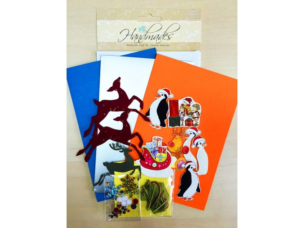 Набор для скрапбукинга «Открытка (3 шт.)»Наборы для создания открыток<br><br><br>Артикул: SKF012<br>Размер: 12,5x18 см