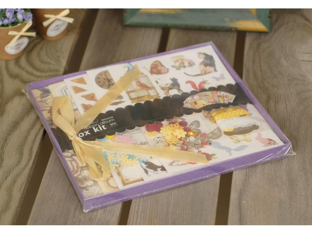 Набор для скрапбукинга «Шебби шик - Фотоальбом»Наборы для создания альбома<br><br><br>Артикул: SRA002<br>Размер: 20,5x20,5 см