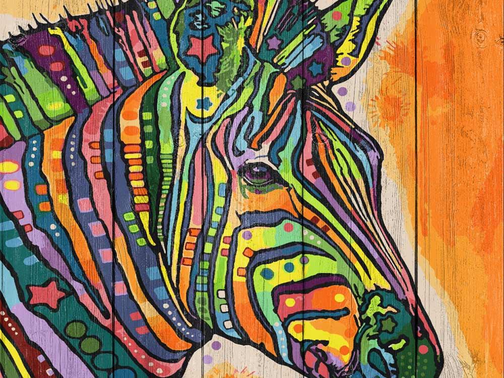 Картина по номерам по дереву Dali «Зебра»Картины по номерам по дереву Dali<br><br><br>Артикул: WS013<br>Основа: Деревянное панно<br>Сложность: очень сложные<br>Размер: 40x50 см<br>Количество цветов: 24-30