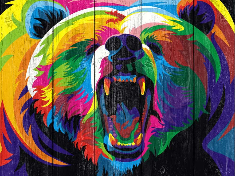 Картина по номерам по дереву Dali «Медведь pop-art» Ваю РомдониКартины по номерам по дереву Dali<br><br><br>Артикул: WS016<br>Основа: Деревянное панно<br>Сложность: очень сложные<br>Размер: 40x50 см<br>Количество цветов: 24-30