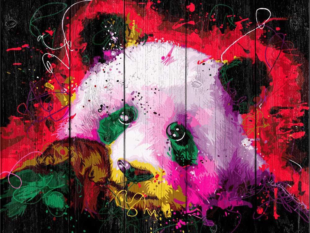 Купить Картина по номерам по дереву Dali «Панда»