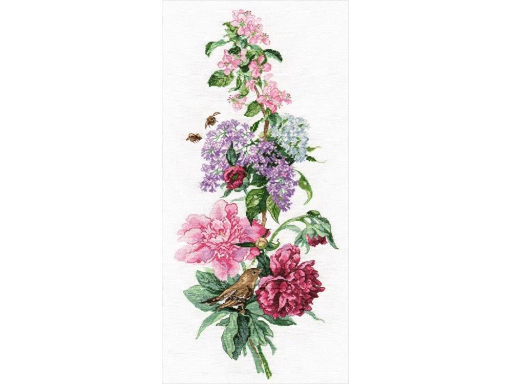 Купить Вышивка крестом, Набор для вышивания «Цветочная композиция. Пионы», Овен