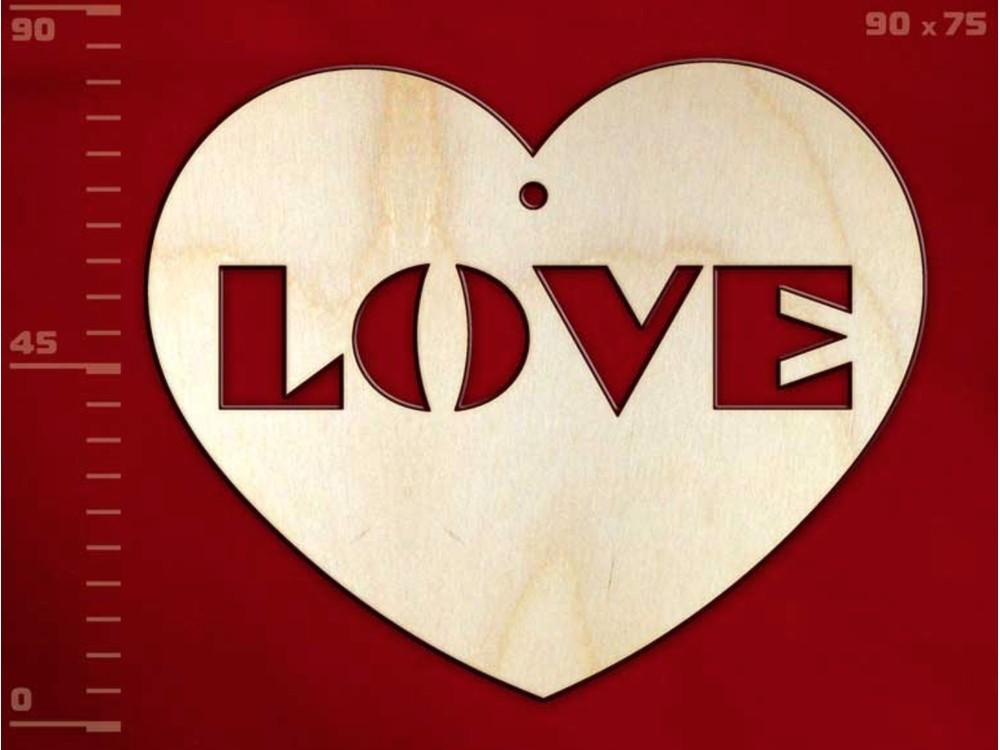 Деревянная заготовка для эбру - Сердце 1, Integra Art