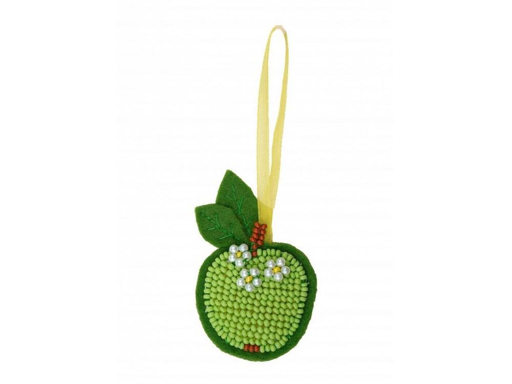 Набор вышивки бисером «Зеленое яблочко»Вышивка бисером Риолис<br><br>