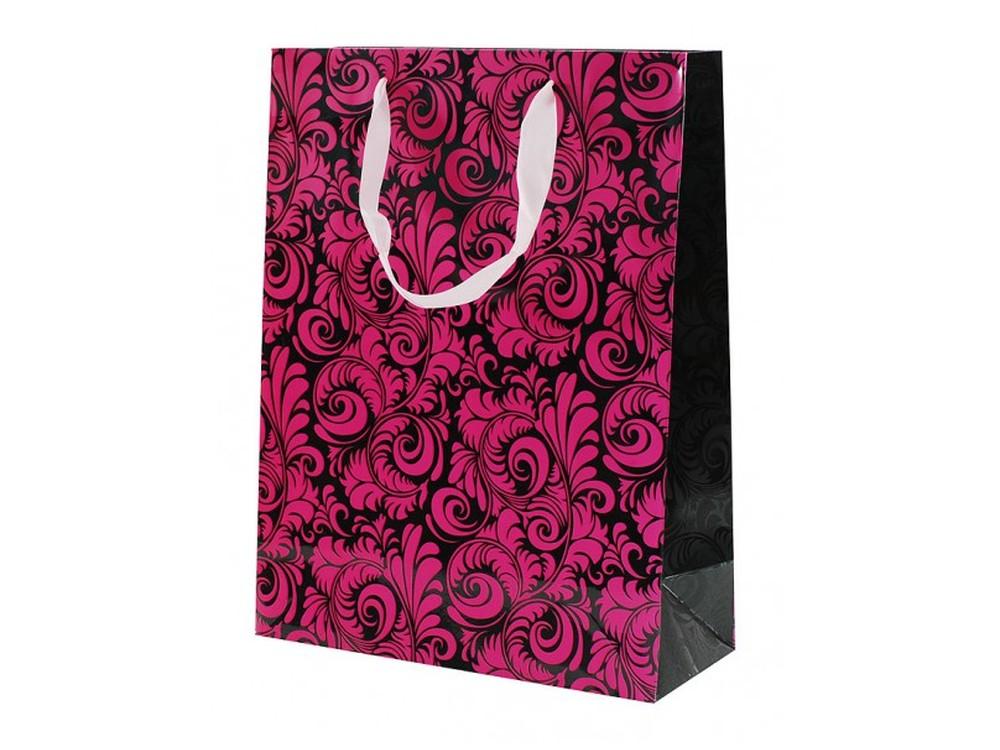 Подарочный пакет «Кружевные листья»Подарочные пакеты<br>Оригинальный подарочный пакет станет прекрасным дополнением для вашего подарка. Пакет выполнен из качественной плотной бумаги с хорошей печатью. Толщина бумаги: 210 г /м2.<br><br>Артикул: 1587-SB<br>Размер: 32x26,6x11,4 см