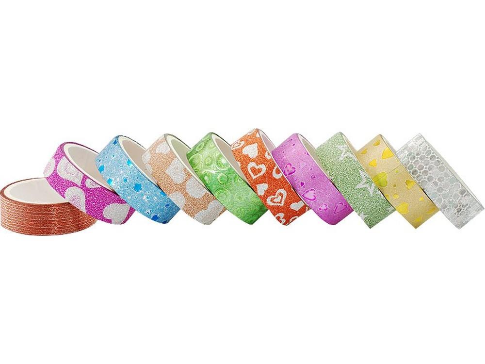 Скотч «Пестрые кружева» (10 цветов)Всё для скрапбукинга<br>Красивый декоративный скотч - прекрасный материал для работы в технике скрапбукинг, его можно наклеить и снять без повреждения основы. <br> <br> Набор:10 цветов<br> Ширина ленты: 1,5 см<br>Длина рулона: 3 м<br>