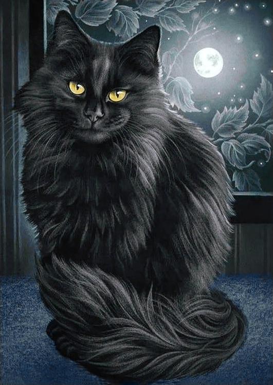 Алмазная вышивка «Черная кошка»Алмазная вышивка<br><br>