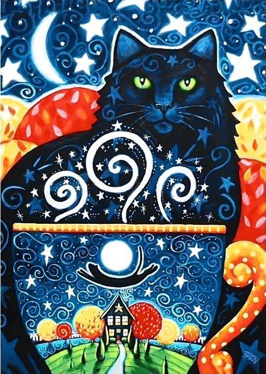 Алмазная вышивка «Таинственный кот»Алмазная вышивка Гранни<br><br><br>Артикул: Ag251<br>Основа: Холст без подрамника<br>Сложность: средние<br>Размер: 27x38 см<br>Выкладка: Полная<br>Количество цветов: 30<br>Тип страз: Квадратные