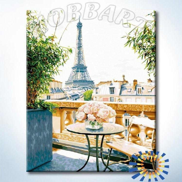 Картина по номерам «Утро в Париже»Hobbart<br><br><br>Артикул: DZ4050051-Lite<br>Основа: Цветной холст<br>Сложность: сложные<br>Размер: 40x50 см<br>Количество цветов: 33<br>Техника рисования: Без смешивания красок