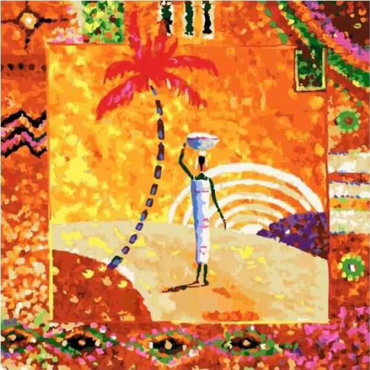 Картина по номерам «Африка» Николая ПахомоваРаскраски по номерам Paintboy (Original)<br><br><br>Артикул: FX4113_R<br>Основа: Холст<br>Сложность: средние<br>Размер см: 40x40<br>Количество цветов: 25<br>Техника рисования: Без смешивания красок