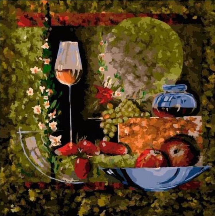 Картина по номерам «Клубничный десерт» Николая ПахомоваРаскраски по номерам Paintboy (Original)<br><br><br>Артикул: FX4114_R<br>Основа: Холст<br>Сложность: сложные<br>Размер см: 40x40<br>Количество цветов: 30<br>Техника рисования: Без смешивания красок