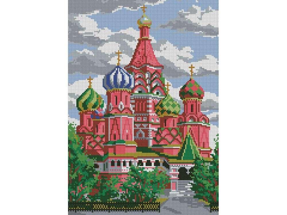 Алмазная вышивка «Собор Василия Блаженного»Алмазная вышивка<br><br>
