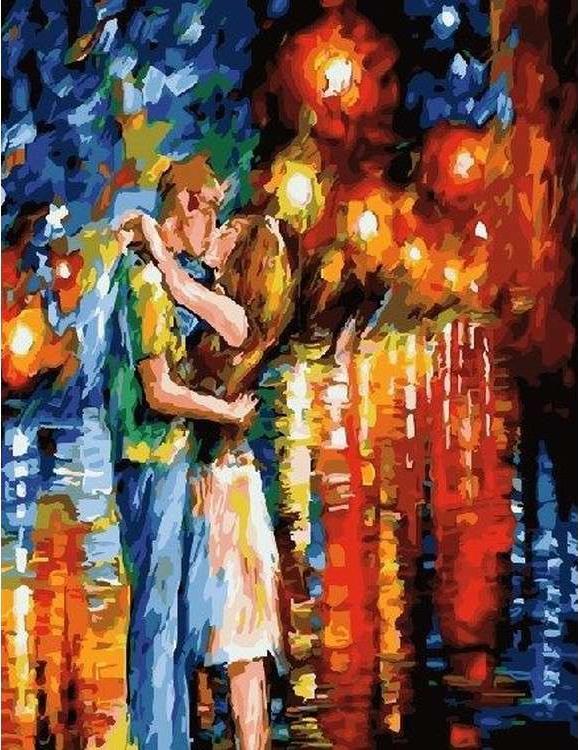 Картина по номерам «Прощальный поцелуй» Леонида Афремова