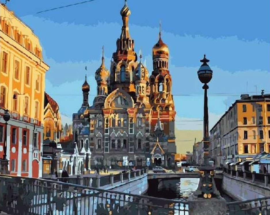 Картина по номерам «Спас-на-Крови в Санкт-Петербурге»Paintboy (Premium)<br><br><br>Артикул: GX21214<br>Основа: Холст<br>Сложность: средние<br>Размер: 40x50 см<br>Количество цветов: 24<br>Техника рисования: Без смешивания красок