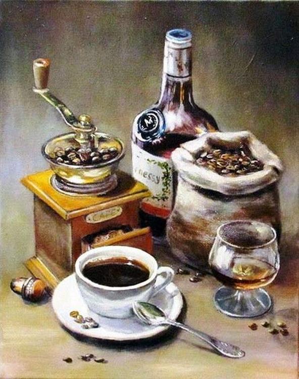 Картина по номерам «Кофейный набор»Paintboy (Premium)<br><br><br>Артикул: GX21341<br>Основа: Холст<br>Сложность: средние<br>Размер: 40x50 см<br>Количество цветов: 24-30<br>Техника рисования: Без смешивания красок